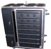Laptop Lock Up® Model LL 7D 07 ESD Safe Deployable Cabinet:
